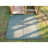Green rubber tile from our children's Climbing Frames range