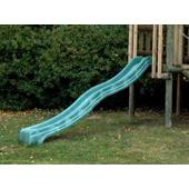Green polymer slide (10') from our children's Climbing Frames range