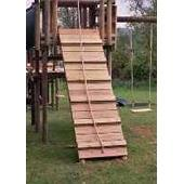 Langley ramp and rope from our children's Wooden Climbing Frames range