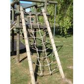 Langley net and poles from our children's Wooden Climbing Frames range