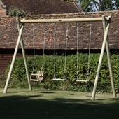 Langley Triple Swing Frame from our children's Childrens Garden Swings range