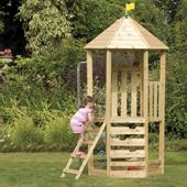 TP Castlewood Tower from our children's Wooden Climbing Frames range