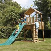 TP Kingswood2 Tower and Swing Arm with Rapide Slide from our children's Climbing Frames,Wooden Climbing Frames range