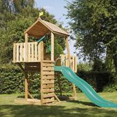 TP Kingswood2 Tower with Crazy Wavy Slide from our children's Wooden Climbing Frames range